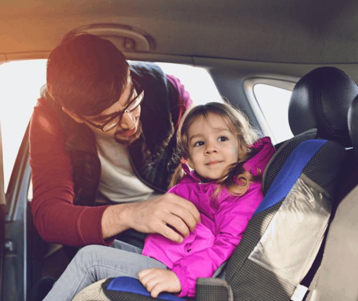 forward-facing child car seat